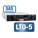 Quantum SuperLoader 3, LTO-5HH Drive, Model C, Media and HBA Bundle, 16 slots, 6Gb/s SAS, rackmount, barcode reader