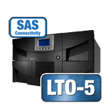 Quantum Scalar i80 Premium Library, two IBM LTO-5 tape drives, 80 slots, Advanced Features, Dual Power, 6Gb SAS