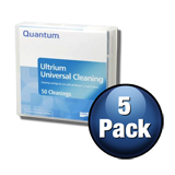 Quantum Cleaning Cartridge Pre-Labeled for all LTO Ultrium Tape Drives - 5-Pack