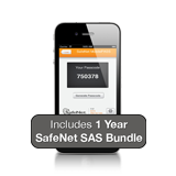 Gemalto / SafeNet SAS Cloud Two Factor Authentication 1-User Subscription, MobilePASS, Activation & 1 Year License