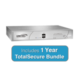 SonicWall NSA 220 TotalSecure Bundle - Includes NSA220 Appliance & 1 Year Comprehensive Gateway Security Suite