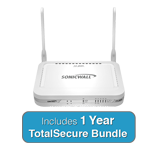SonicWall TZ 105 Wireless-N TotalSecure Bundle - Includes TZ105 Wireless Appliance & 1 Year Comprehensive Gateway Security Suite