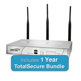 SonicWall TZ 215 Wireless-N TotalSecure Bundle - Includes TZ215 Wireless Appliance & 1 Year Comprehensive Gateway Security Suite