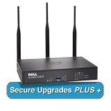 SonicWALL TZ300W Wireless UTM Firewall with Secure Upgrade Plus for 2 Years - 802.11ac, 2x800MHz cores, 5x1GbE interfaces