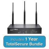 SonicWALL TZ300W Wireless TotalSecure Bundle - Includes TZ 300W UTM Firewall & 1 Year Comprehensive Gateway Security Suite
