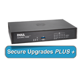 SonicWALL TZ400 UTM Firewall Appliance with Secure Upgrade Plus for 2 Years - 4x800MHz cores, 7x1GbE interfaces, 1GB RAM