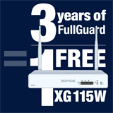 Sophos XG 115W Appliance FREE with purchase of 3 Year FullGuard Bundle