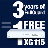 Sophos XG 115 Appliance FREE with purchase of 3 Year FullGuard Bundle