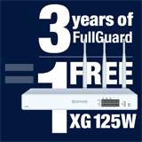 Sophos XG 125W Appliance FREE with purchase of 3 Year FullGuard Bundle