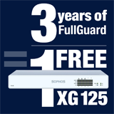 Sophos XG 125 Appliance FREE with purchase of 3 Year FullGuard Bundle