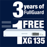 Sophos XG 135 Appliance FREE with purchase of 3 Year FullGuard Bundle
