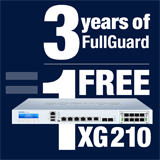 Sophos XG 210 Appliance FREE with purchase of 3 Year FullGuard Bundle