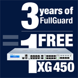 Sophos XG 450 Appliance FREE with purchase of 3 Year FullGuard Bundle