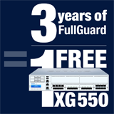 Sophos XG 550 Appliance FREE with purchase of 3 Year FullGuard Bundle