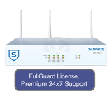 Sophos SG 105w Rev 2 UTM Wireless Appliance TotalProtect Bundle with 4GE ports, FullGuard License, Premium 24x7 Support - 3 Year
