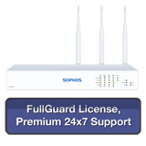 Sophos SG 125w Rev 3 Wireless Firewall TotalProtect Bundle with 8 GE ports, FullGuard License, Premium 24x7 Support - 1 Year
