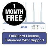 Sophos SG 125w Rev 3 Wireless Firewall TotalProtect Bundle - 1 Year + 1 Month FREE