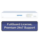 Sophos SG 125 Rev 3 Security Appliance TotalProtect Bundle with 8 GE ports, FullGuard License, Premium 24x7 Support - 1 Year
