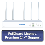 Sophos SG 135w Rev 3 Wireless Firewall TotalProtect Bundle with 8 GE ports, FullGuard License, Premium 24x7 Support - 1 Year