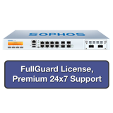 Sophos SG 310 Rev 2 Security Appliance TotalProtect Bundle w/10GE ports, FullGuard License, Premium 24x7 Support - 1 Year