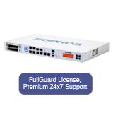 Sophos SG 330 Security Appliance TotalProtect Bundle with 8 GE ports, FullGuard License, Premium 24x7 Support - 1 Year
