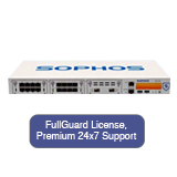 Sophos SG 430 Security Appliance TotalProtect Bundle with 8 GE ports, FullGuard License, Premium 24x7 Support - 1 Year