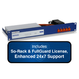 Sophos SG 105 Rev 2 Firewall TotalProtect Bundle with 4 GE ports, FullGuard License, Premium 24x7 Support - 1 Year and SoRack