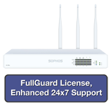 Sophos XG 125W Rev 2 Wireless Firewall TotalProtect Bundle with 8 GE ports, FullGuard License, 24x7 Support - 3 Years