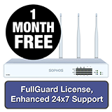 Sophos XG 125W Rev 3 Wireless Firewall TotalProtect Bundle - 1 Year + 1 Month FREE