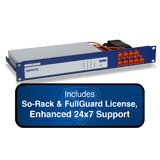 Sophos XG 125 Rev 2 Firewall TotalProtect Bundle with 8 GE ports, FullGuard License, 24x7 Support - 1 Year and SoRack