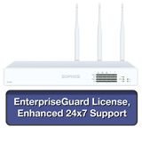 Sophos XG 135W Wireless Firewall EnterpriseProtect Bundle w/ 8 GE ports, EnterpriseGuard License, 24x7 Support - 1 Year