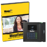 Wasp Barcode WaspTime Barcode Standard Edition - Barcode Time and Attendance System with BC100 Barcode Employee Time Clock