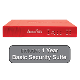 WatchGuard Firebox T15-W (Wireless) Firewall with 1-Year Basic Security Suite - 400 Mbps Firewall, 150 Mbps VPN, 90 Mbps UTM