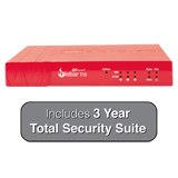 WatchGuard Firebox T15 with 3-Year Total Security Suite - 400 Mbps Firewall, 150 Mbps VPN, 90 Mbps UTM