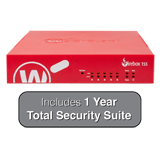 WatchGuard Firebox T55 and 1-Year Total Security Suite - 1 Gbps Firewall, 360 Mbps VPN, 523 Mbps UTM