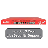 WatchGuard Firebox M300 UTM Firewall with 3-Year LiveSecurity (12x5 Support Contract) - 4Gbps Firewall, 2Gbps VPN, 800Mbps UTM