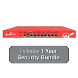 WatchGuard Firebox M300 UTM Firewall with 1-Year Security Bundle (24x7 Support) - 4Gbps Firewall, 2Gbps VPN, 800Mbps UTM