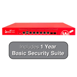 WatchGuard Firebox M400 UTM Firewall with 1-Year Basic Security Suite - 8Gbps Firewall, 4.4Gbps VPN, 1.4Gbps UTM, 8x 1GbE
