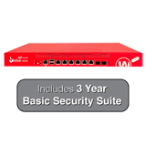WatchGuard Firebox M400 UTM Firewall with 3-Year Basic Security Suite - 8Gbps Firewall, 4.4Gbps VPN, 1.4Gbps UTM, 8x 1GbE