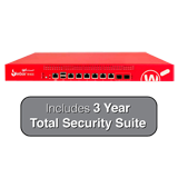 WatchGuard Firebox M400 UTM Firewall with 3-Year Total Security Suite - 8Gbps Firewall, 4.4Gbps VPN, 1.4Gbps UTM