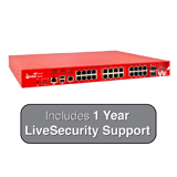 WatchGuard Firebox M440 with 1-Year LiveSecurity (12x5 Support Contract) - 6.7Gbps Firewall, 3.2Gbps VPN, 1.6Gbps UTM, 25x 1GbE