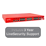 WatchGuard Firebox M440 with 3-Year LiveSecurity (12x5 Support Contract) - 6.7Gbps Firewall, 3.2Gbps VPN, 1.6Gbps UTM, 25x 1GbE