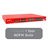 WatchGuard Firebox M440 UTM Firewall with 1-Year NGFW Bundle - 6.7Gbps Firewall, 3.2Gbps VPN, 1.6Gbps UTM, 25x 1GbE