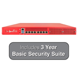 WatchGuard Firebox M4600 Next-Gen Firewall with 3-Years Basic Security Suite - Up to 40 Gbps Firewall, 10 Gbps VPN,  8 Gbps UTM