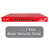 WatchGuard Firebox M500 UTM Firewall with 1-Year Basic Security Suite - 8Gbps Firewall, 5.3Gbps VPN, 1.7Gbps UTM, 8x 1GbE