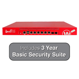 WatchGuard Firebox M500 UTM Firewall with 3-Year Basic Security Suite - 8Gbps Firewall, 5.3Gbps VPN, 1.7Gbps UTM, 8x 1GbE