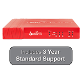 WatchGuard Firebox T10 Firewall with 3-Years Standard Support - 400 Mbps Firewall, 100 Mbps VPN, 90 Mbps UTM