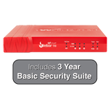 WatchGuard Firebox T10 Firewall with 3-Years Basic Security Suite - 400 Mbps Firewall, 100 Mbps VPN, 90 Mbps UTM