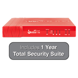 WatchGuard Firebox T10 Firewall with 1-Year Total Security Suite - 400 Mbps Firewall, 100 Mbps VPN, 90 Mbps UTM