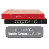 WatchGuard Firebox T30-W (Wireless) with 1-Year Basic Security Suite - 620 Mbps Firewall, 150 Mbps VPN, 135 Mbps UTM